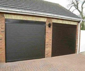 Rollar Black Steel Garage Door